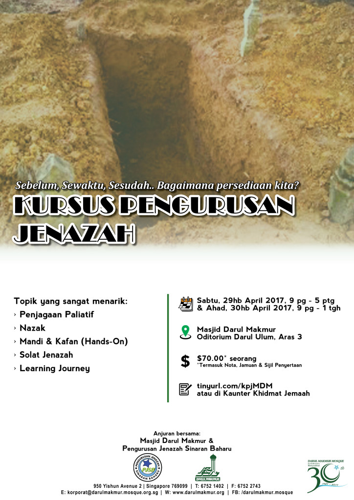 Masjid Darul Makmur_Kursus Pengurusan Jenazah2017