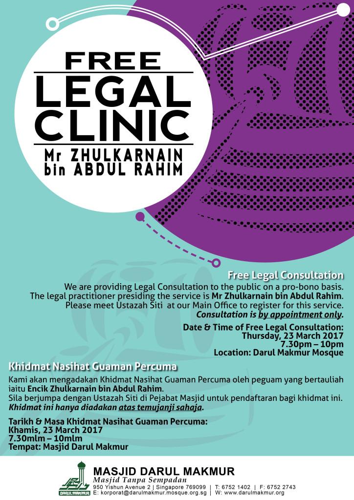 Masjid Darul Makmur_Legal Clinic_Nasihat Guaman Percuma