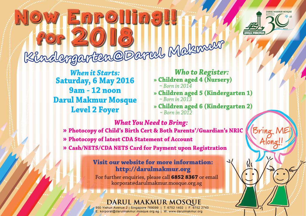 Masjid Darul Makmur_Kindergarten_Registration 2018