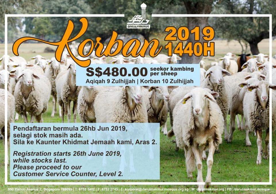 Korban Registration is now OPEN